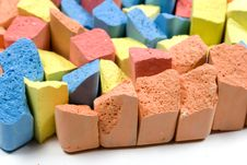 Free Set Of Colored Chalk Royalty Free Stock Photos - 8156228