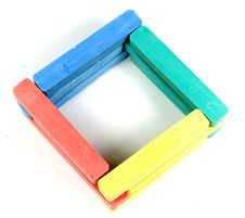 Free Square From Childrens Colored Chalk Royalty Free Stock Photography - 8156257