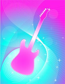 Free Guitar Swirl Background Royalty Free Stock Photo - 8156345