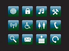 Free Web Icon Set Royalty Free Stock Images - 8156459