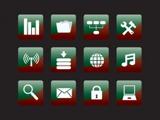 Free Web Icon Set Royalty Free Stock Photos - 8156518