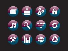 Free Web Icon Set Stock Photography - 8156582