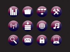 Free Web Icon Set Stock Photos - 8156583
