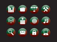 Free Web Icon Set Royalty Free Stock Photos - 8156588