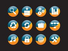 Free Web Icon Set Royalty Free Stock Photography - 8156617