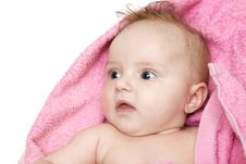 Little Baby After Bath Royalty Free Stock Images