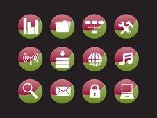 Free Web Icon Set Stock Photo - 8156680