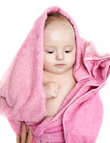 Free Little Baby After Bath Stock Photography - 8156682