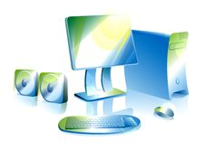 Free Computer With Strips Royalty Free Stock Image - 8156726