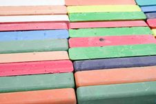 Set Of Colored Chalk Stock Images
