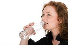 Free Young Woman Drinking Mineral Water Stock Photo - 8157430