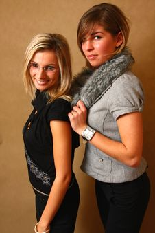Free Two Young Female Friends Stock Images - 8157484