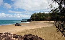 Free Lumaha I Beach In Kauai Royalty Free Stock Images - 8157639