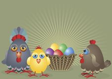 Hen Egg-family Stock Photography