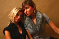 Free Two Young Women Stock Photography - 8157842