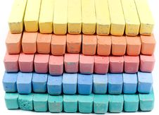 Free Five Colors Childrens Chalk Stock Photos - 8157853