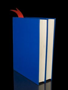 Two Blue Books Stock Photography
