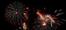 Free Fireworks On Black Royalty Free Stock Photos - 8159708