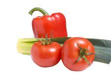 Free Fresh Vegetables On A White. Stock Photo - 8159940