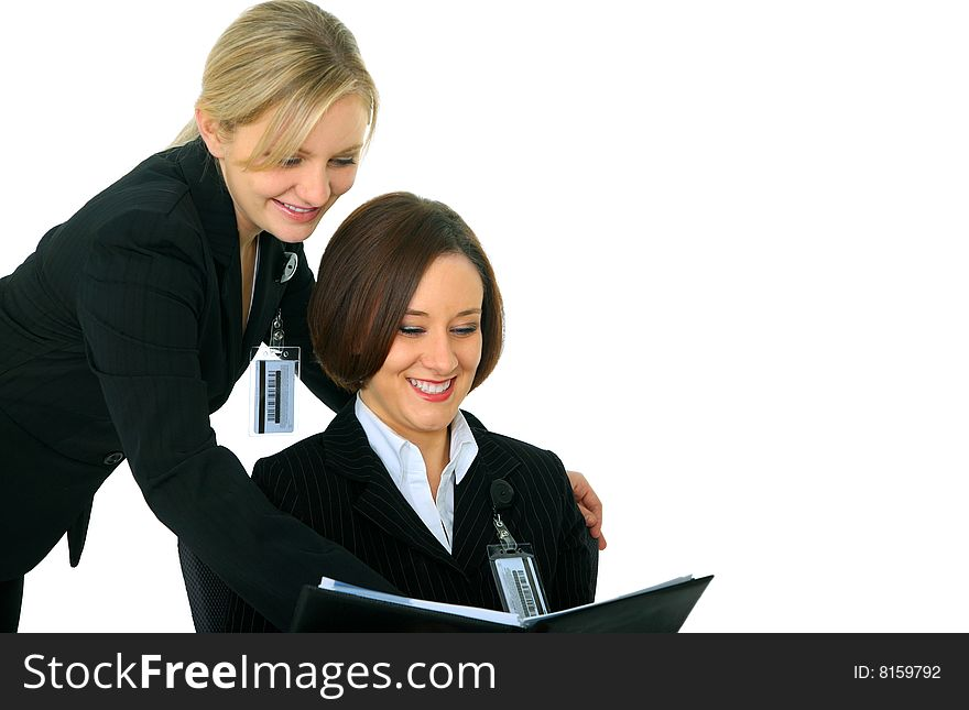 Business Women Discussing On Agenda