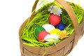 Free Easter Eggs In The Basket Royalty Free Stock Photos - 8160188