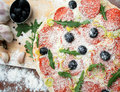 Free Pizza And The Ingredients Stock Photos - 8162413