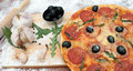Free Pizza And The Ingredients Royalty Free Stock Photography - 8162507