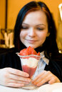 Free Dessert From A Juicy Red Strawberry Stock Photos - 8164813