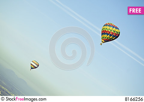 Free Flying Balloons Royalty Free Stock Image - 8166256