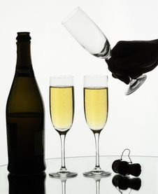 Free Two Glasses Of Champagne Stock Photo - 8160000