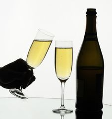Free Two Glasses Of Champagne Stock Photos - 8160013