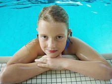 Girl Portrait After Swim Royalty Free Stock Photo
