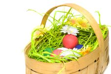 Free Easter Eggs In The Basket Royalty Free Stock Images - 8160869