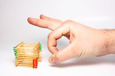Free Matches Stack Royalty Free Stock Photo - 8161085