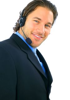 Free Handsome Customer Service Smiling Stock Photo - 8161600