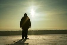 Free Person On Snow Field Stock Photos - 8161903