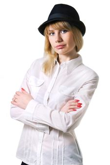 Free Lady In Hat Stock Photos - 8162333