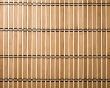Free Bamboo Mat Background Royalty Free Stock Image - 8163206
