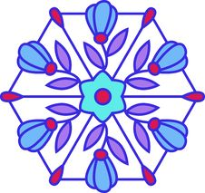 Free Multicolored Floral Stained Glass Royalty Free Stock Image - 8163726