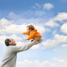 Free Flying Child Royalty Free Stock Image - 8163866
