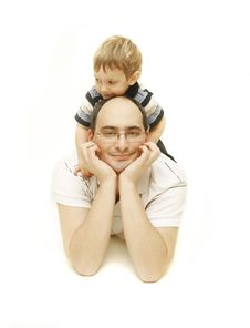 Free Father And Son Stock Photography - 8163982