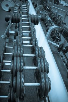Free Dumbbells Royalty Free Stock Images - 8164659