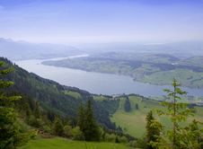 Free Swiss Alps Air View Stock Photo - 8164800