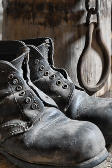 Free Old Boots Royalty Free Stock Images - 8165629