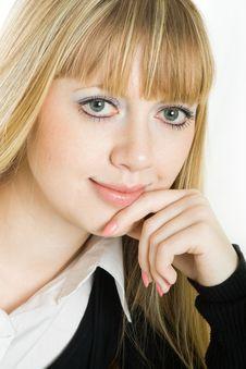 Free Portrait Of A Beautiful Blonde Woman Stock Photo - 8165750