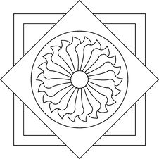 Free Outlines Of Floral Stained Glass Stock Images - 8165824
