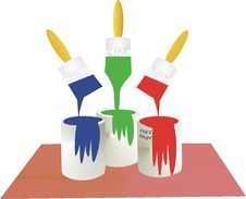 Free Blue, Green, And Red Paint Stock Photography - 8168722