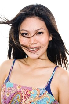 Free Young Woman Happy Face Expression Stock Photography - 8169372