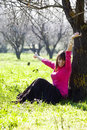 Free Cheerful Woman In Forest Stock Photo - 8172470