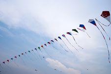 Free National Flag Kites Royalty Free Stock Photo - 8170055